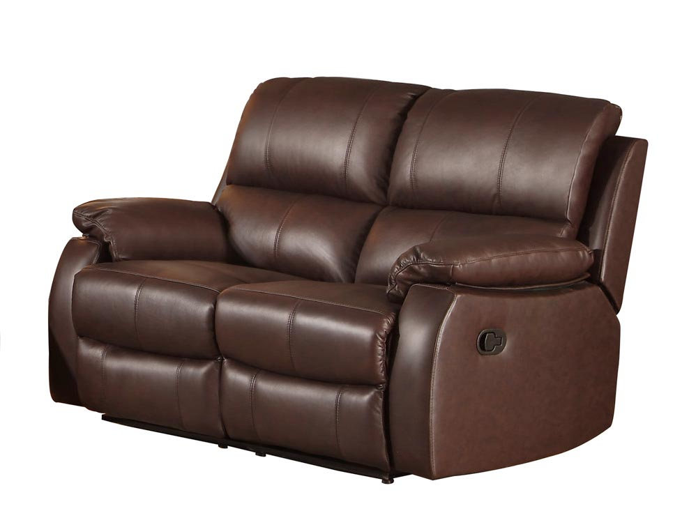 Homelegance Jedidiah Reclining Sofa Set Top Grain Leather Match Chocolate 8315 Sofa Set At