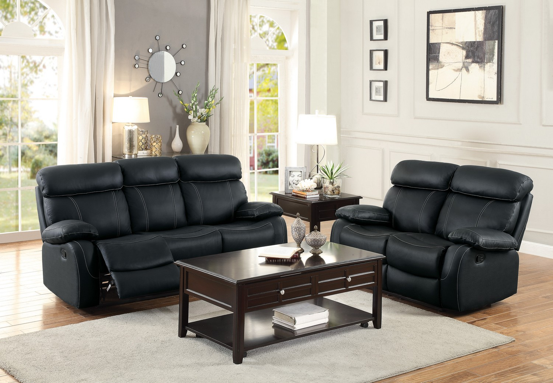 Homelegance Pendu Reclining Sofa Set Top Grain Leather