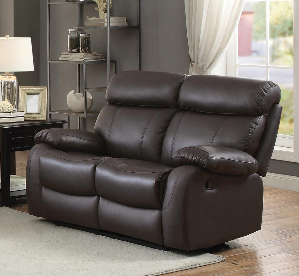 homelegance pendu reclining sofa set top grain leather match brown 8326brw sofa set at. Black Bedroom Furniture Sets. Home Design Ideas