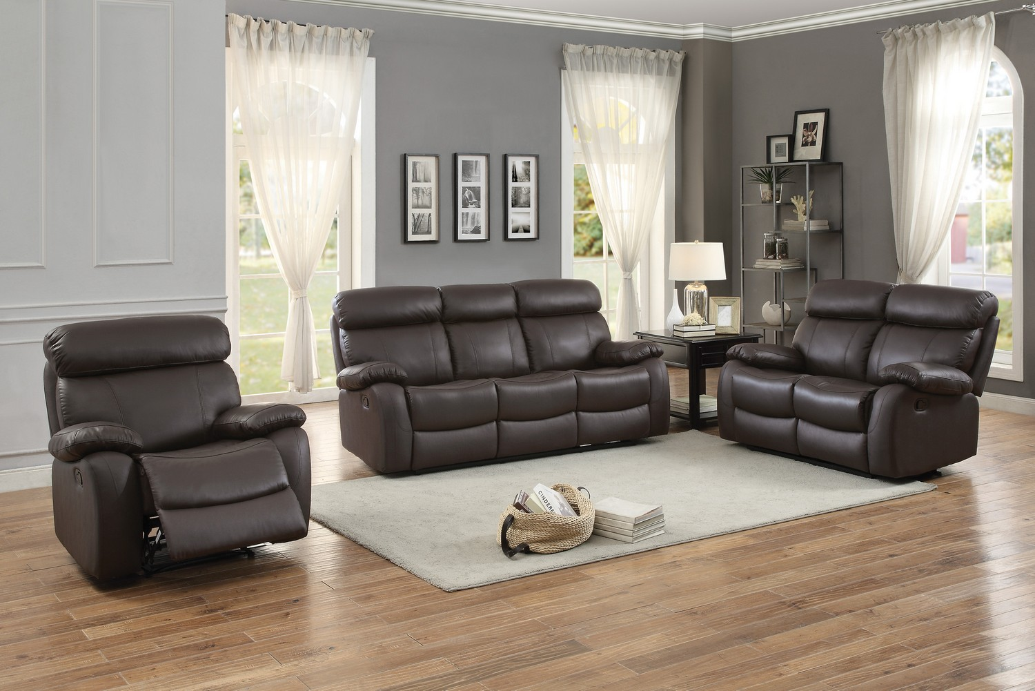 Homelegance Pendu Reclining Sofa Set Top Grain Leather