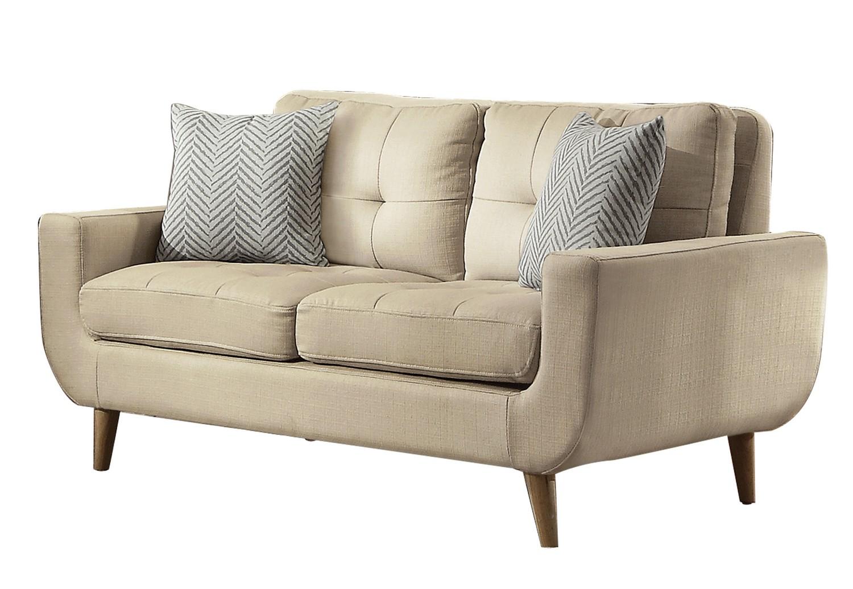 Homelegance Deryn Love Seat - Polyester - Beige
