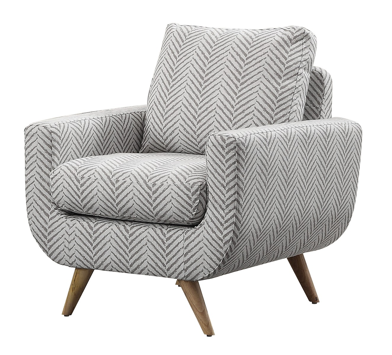Homelegance Deryn Accent Chair - Polyester - Grey