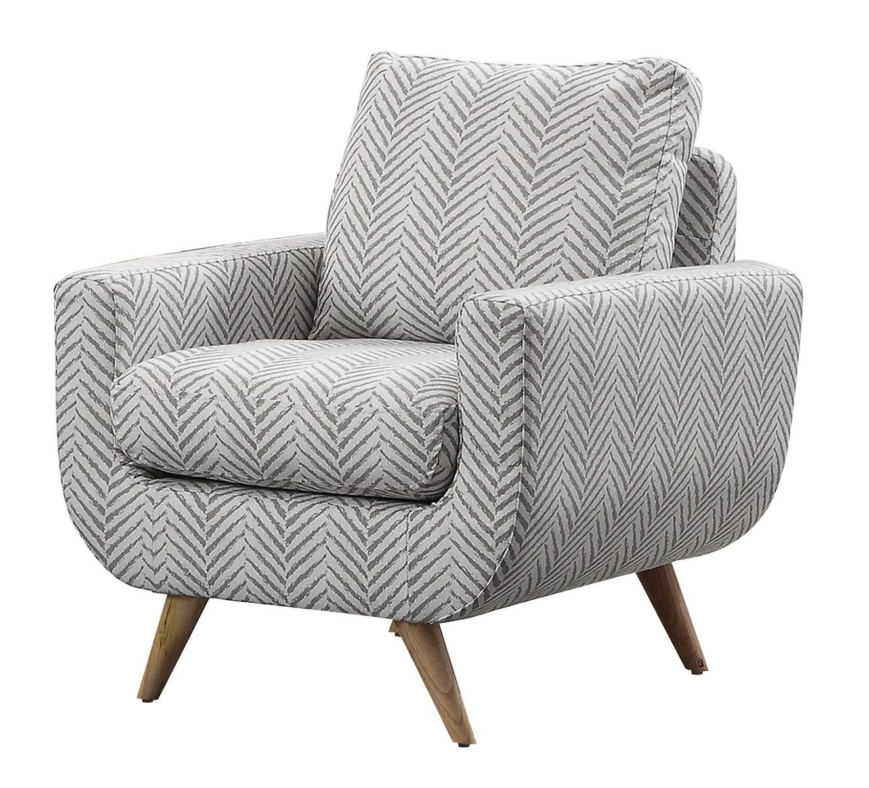 Homelegance Deryn Accent Chair - Polyester - Grey