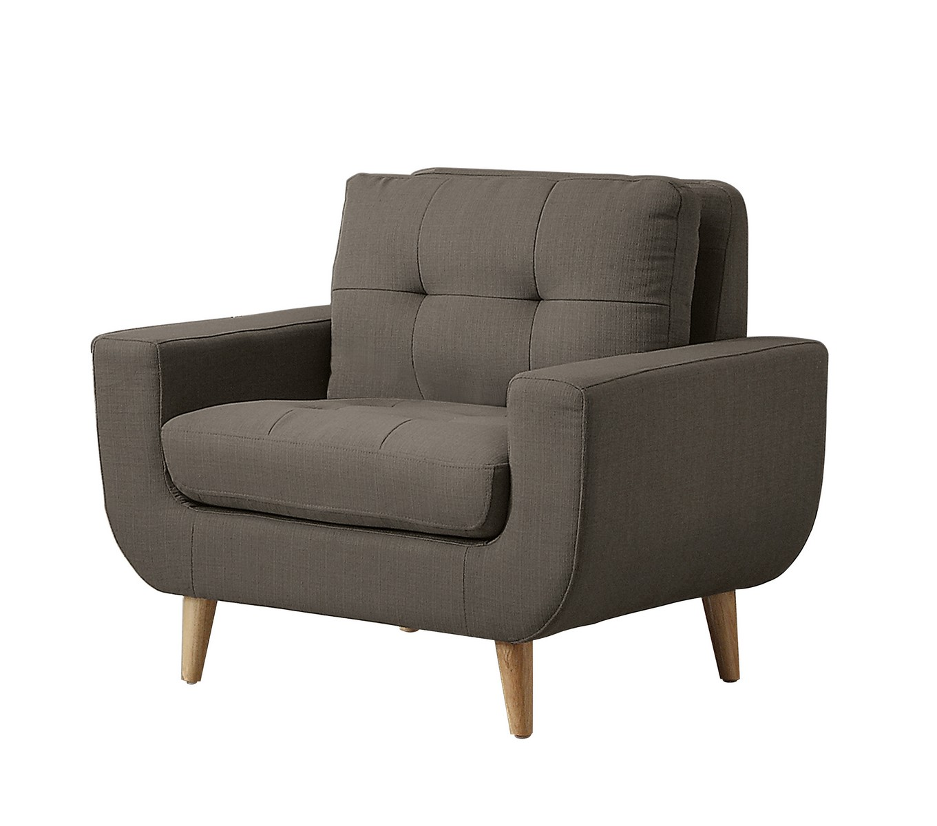 Homelegance Deryn Chair - Polyester - Grey
