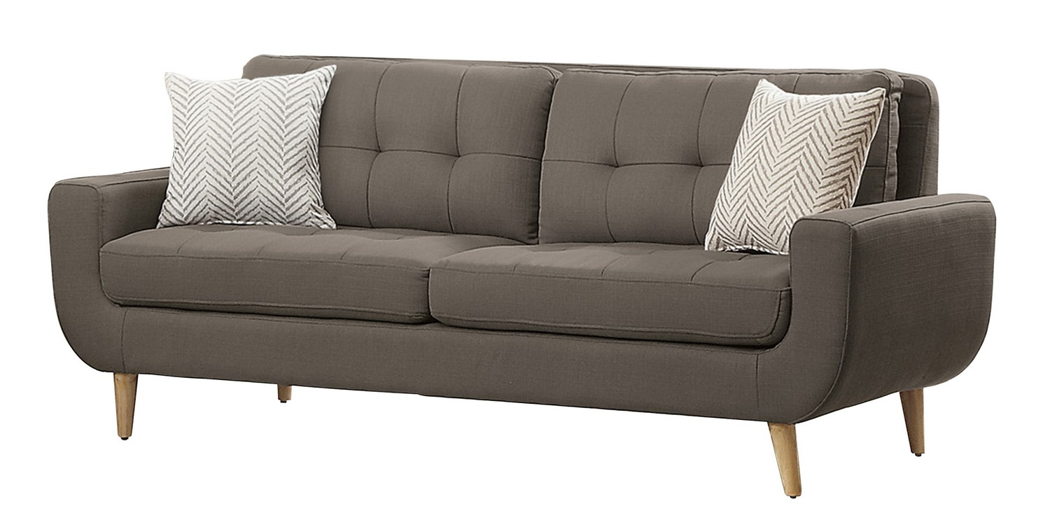 Homelegance Deryn Sofa Polyester Grey 8327gy 3 At