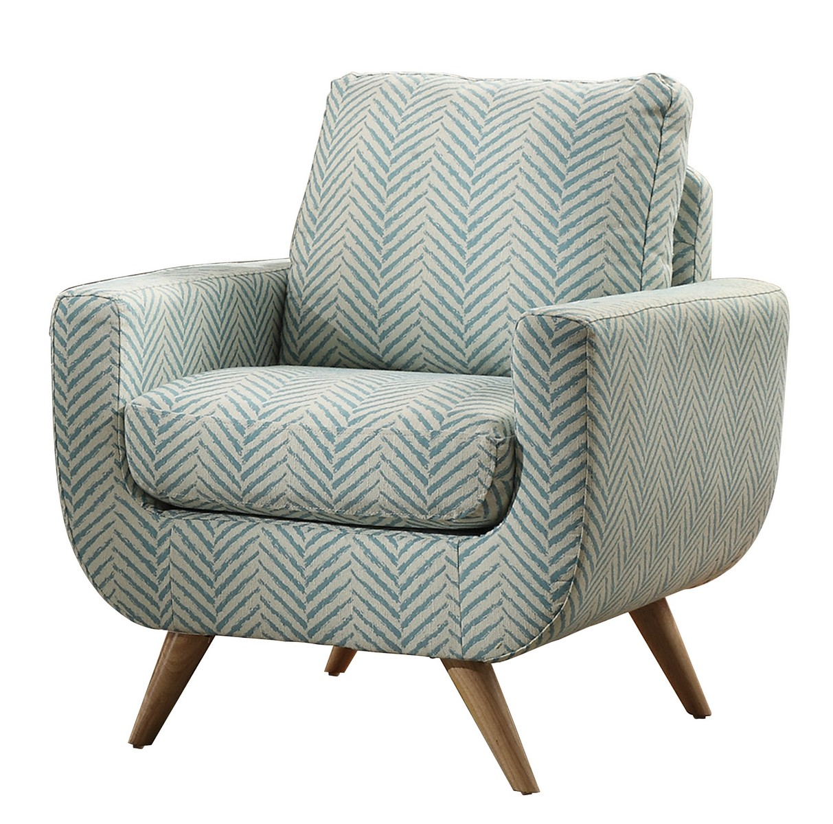 Homelegance Deryn Accent Chair Polyester Teal 8327tl 1s At Homelement Com