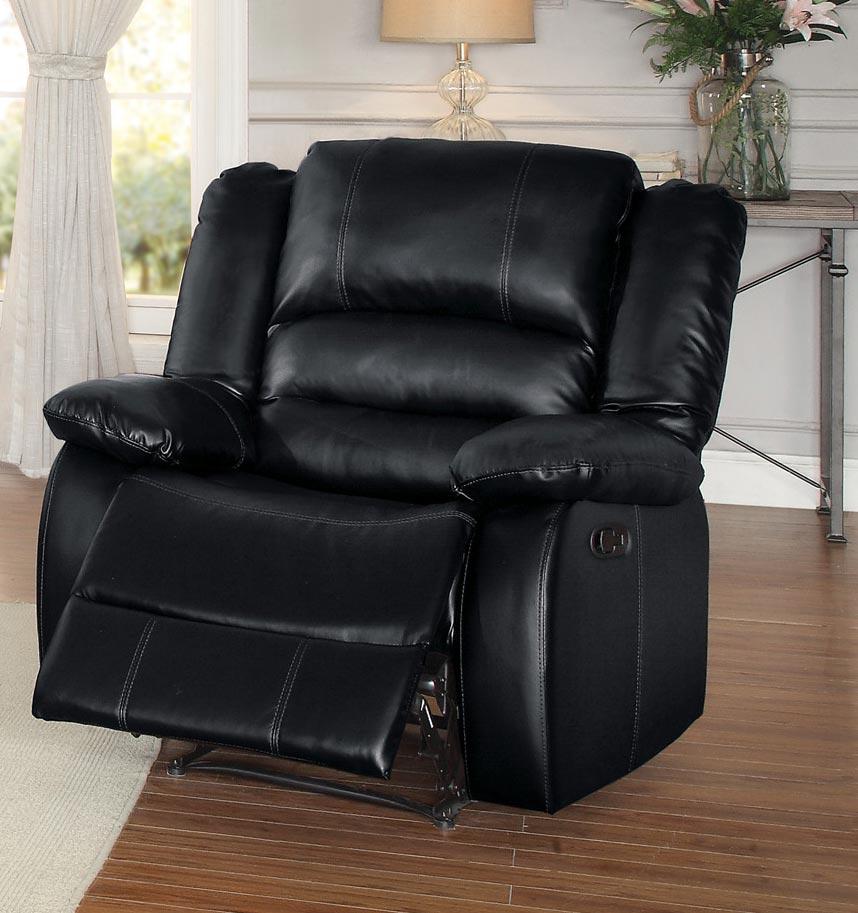 Homelegance Jarita Reclining Chair - Bi-Cast Vinyl - Black