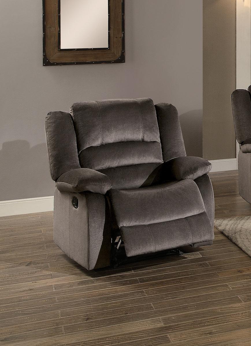 Homelegance Jarita Reclining Chair - Chocolate Fabric
