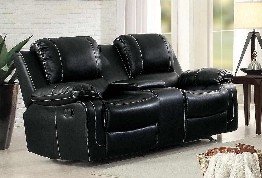 Homelegance Oriole Double Glider Reclining Love Seat With