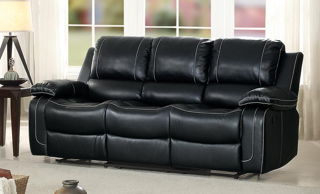 Homelegance Oriole Double Reclining Sofa With Center Drop
