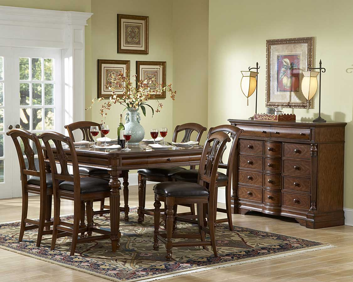 Homelegance English Manor Counter Height Dining Set