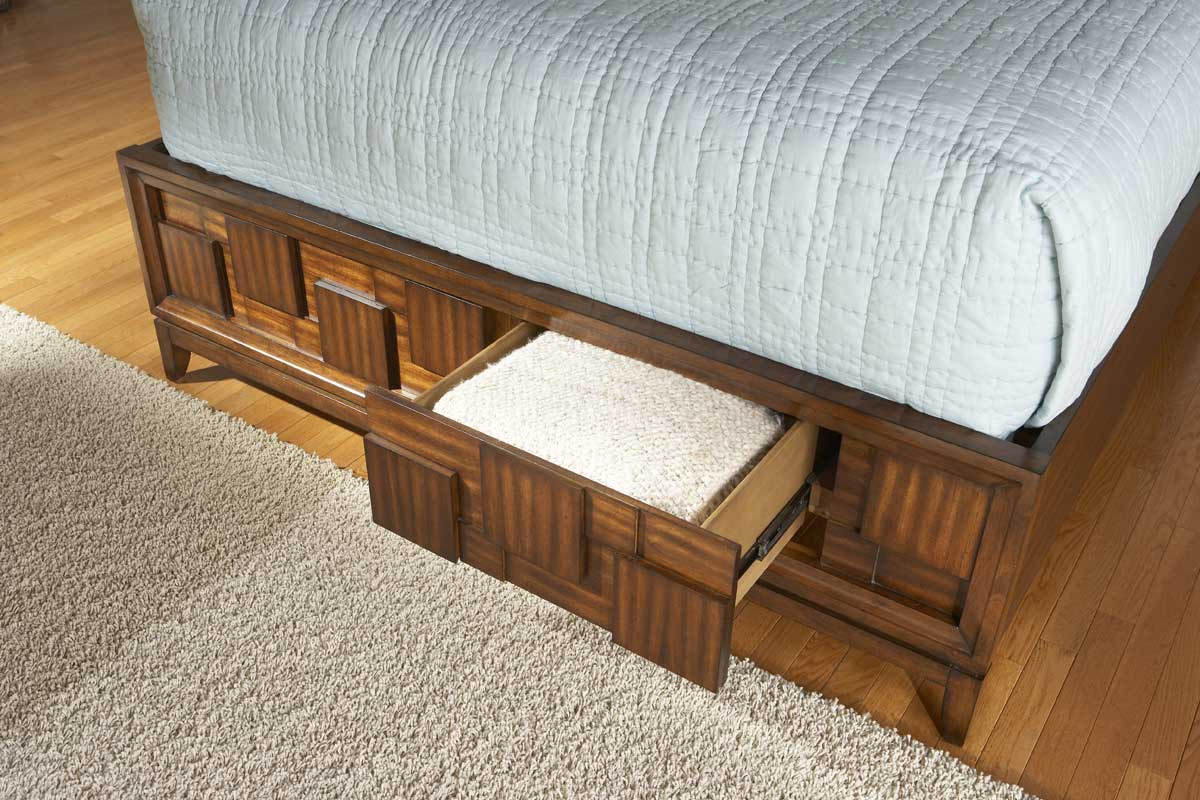Homelegance Campton Platform Bed with Storage Footboard