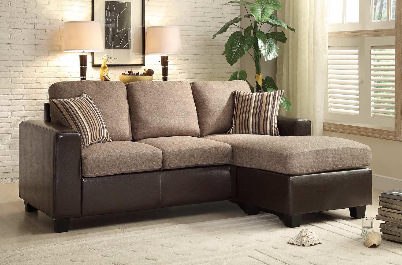 Homelegance Slater Sectional Sofa - Greyish Brown/Dark Brown