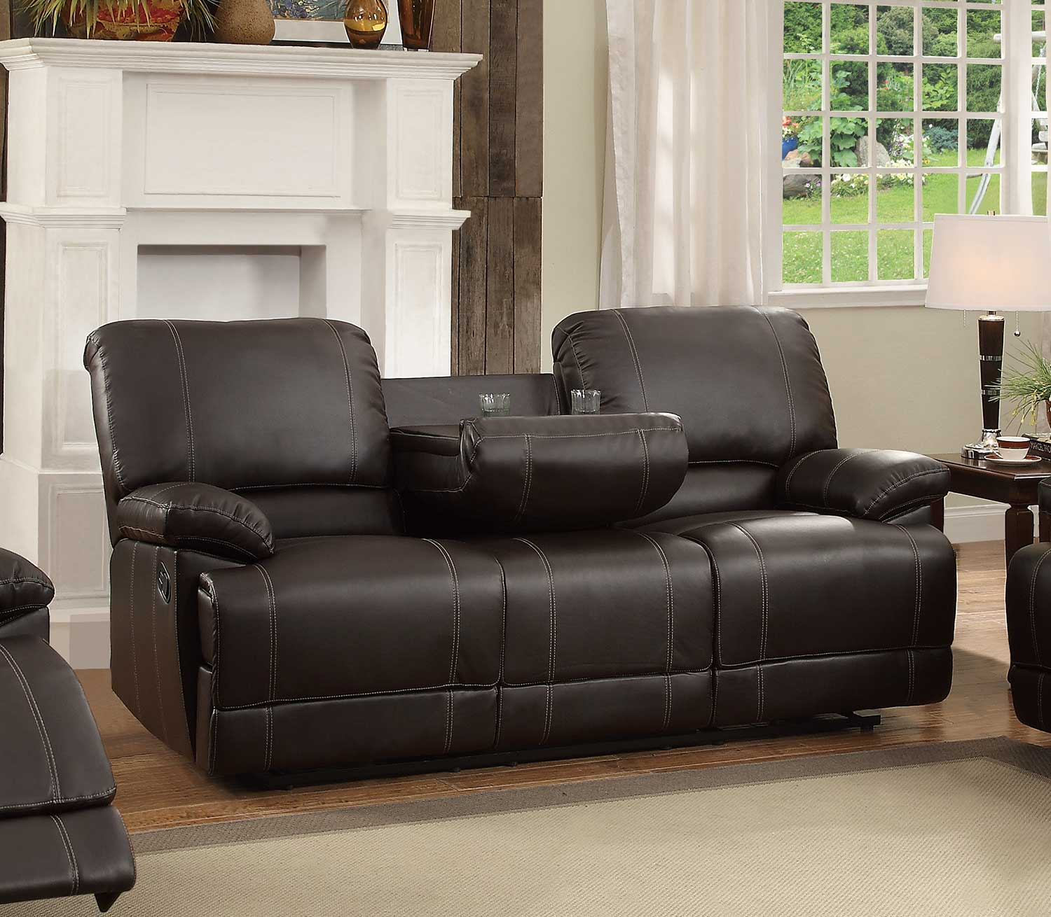 Homelegance Cassville Double Reclining Sofa with Center ...
