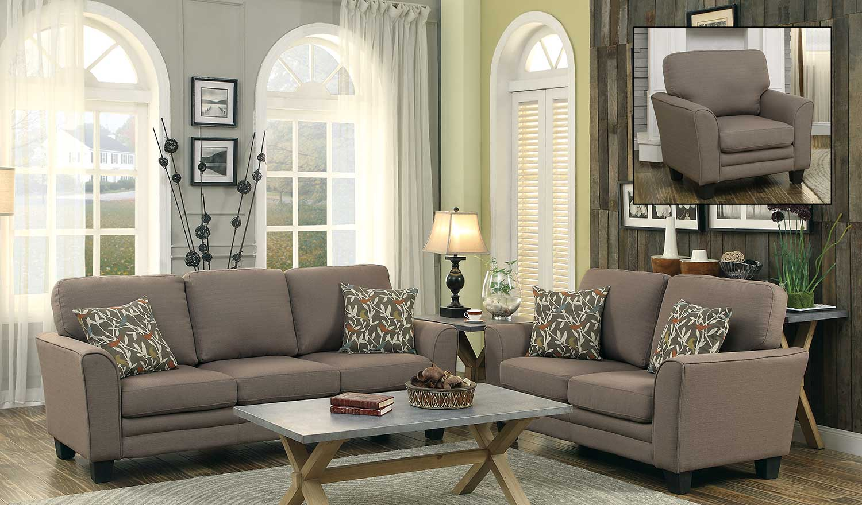 Charmant Homelegance Adair Sofa Set   Grey