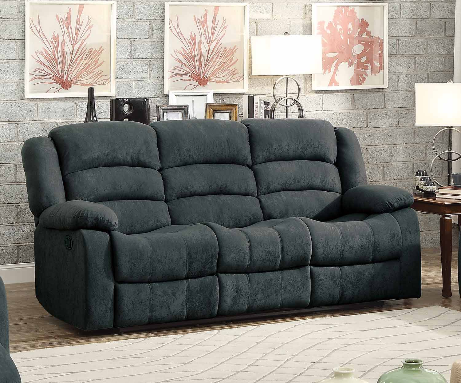 Prime Homelegance Greenville Reclining Sofa Set Blue Grey 8436Gy Andrewgaddart Wooden Chair Designs For Living Room Andrewgaddartcom