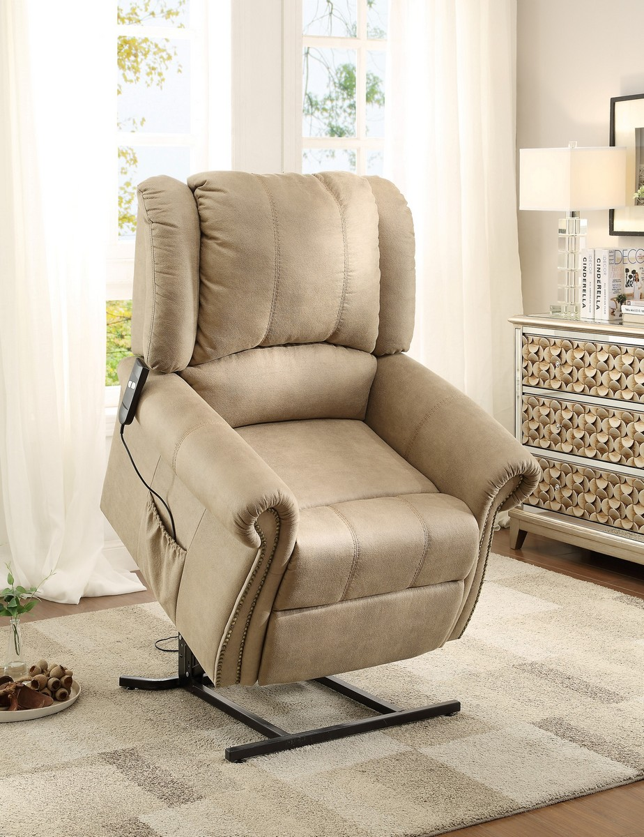 Homelegance Iola Power Lift Chair - Polyester - Taupe