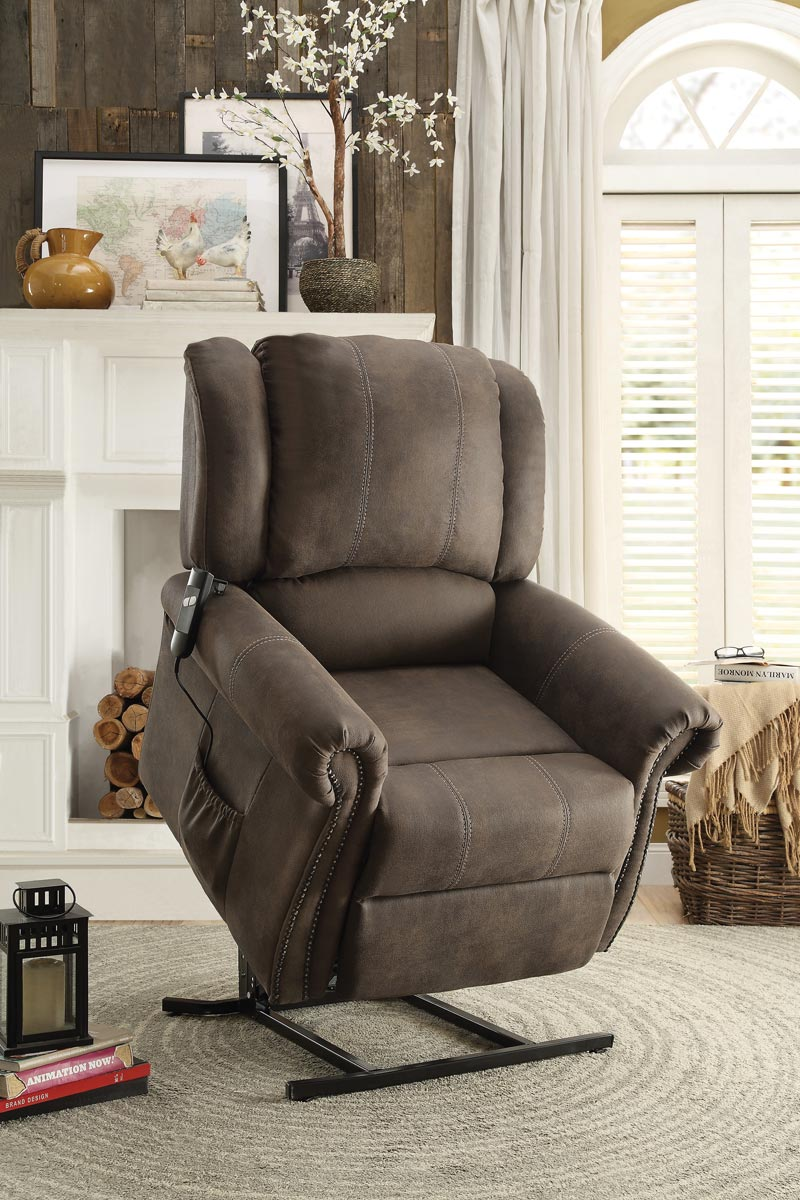 Homelegance Iola Power Lift Chair - Polyester - Dark Brown