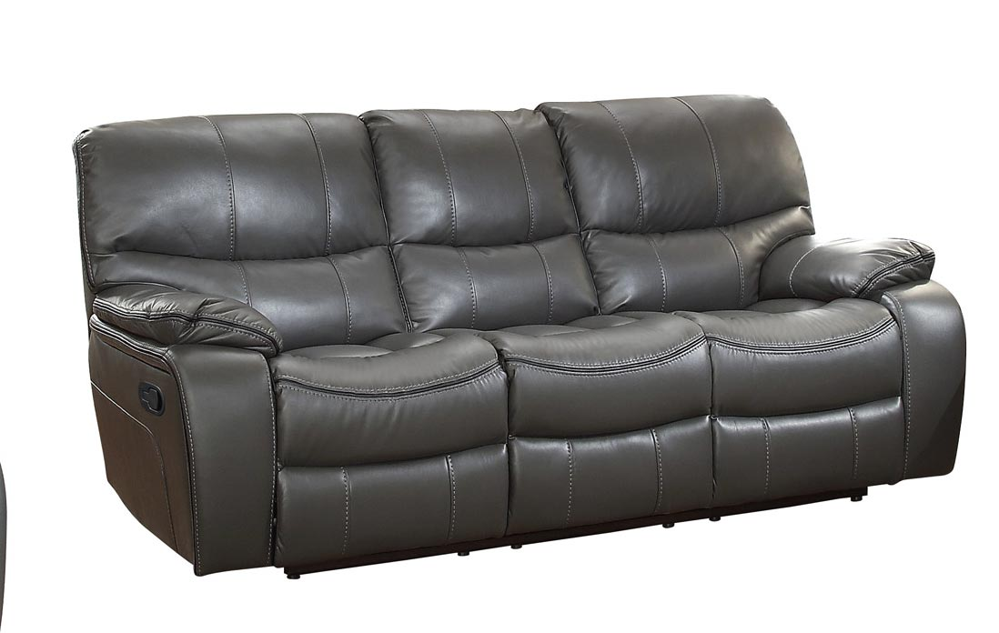 Homelegance pecos double reclining sofa leather gel for Double leather sofa