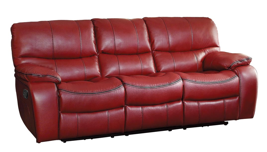Homelegance Pecos Double Reclining Sofa - Leather Gel Match - Red