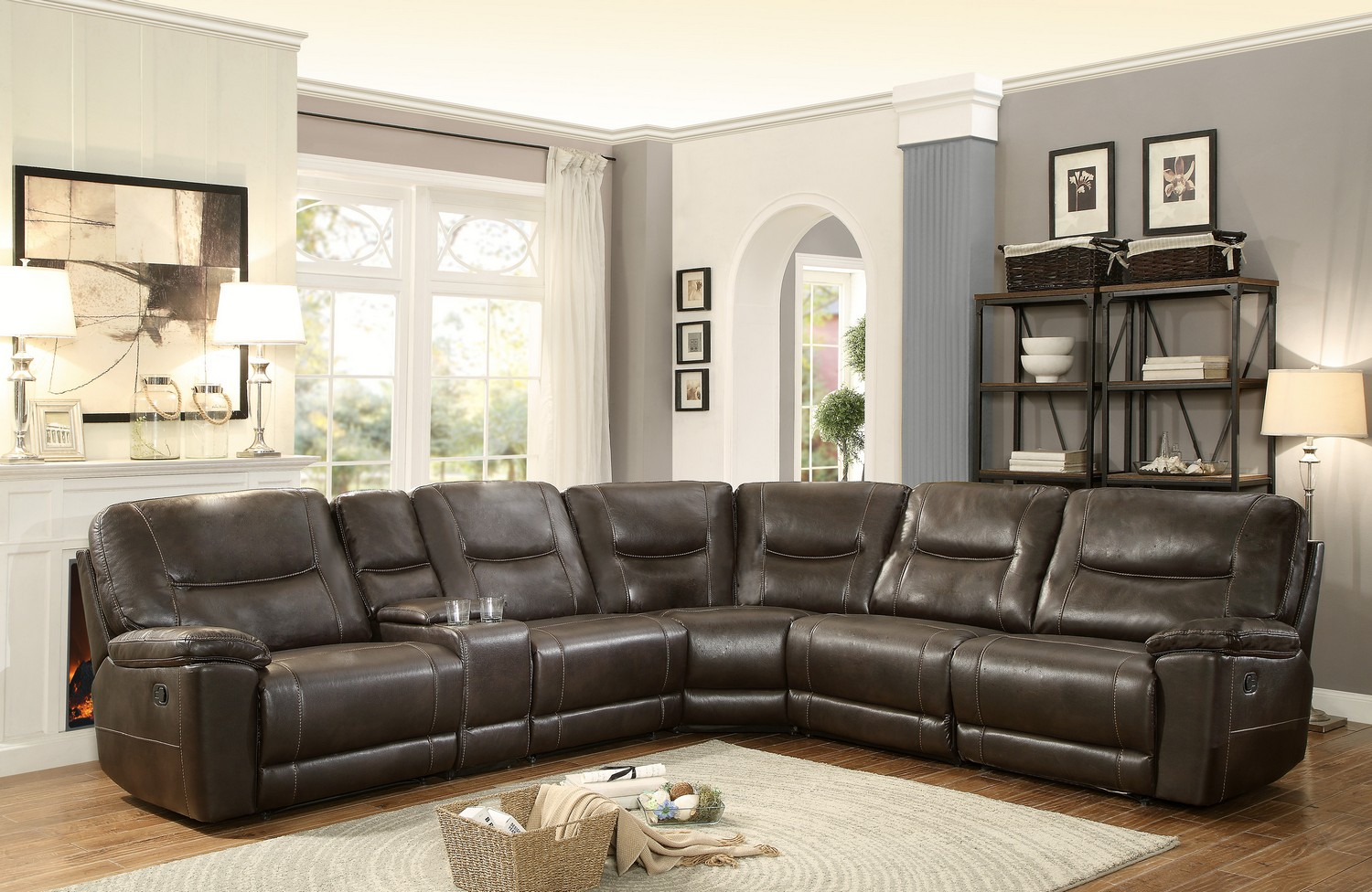 Homelegance Columbus Reclining Sectional Sofa Set D