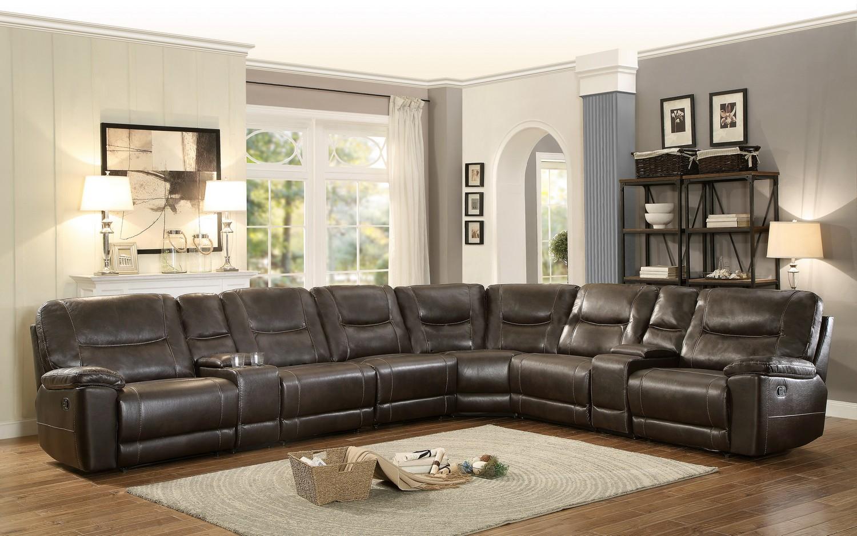 living room furniture columbus ohio homelegance columbus reclining sectional sofa set e