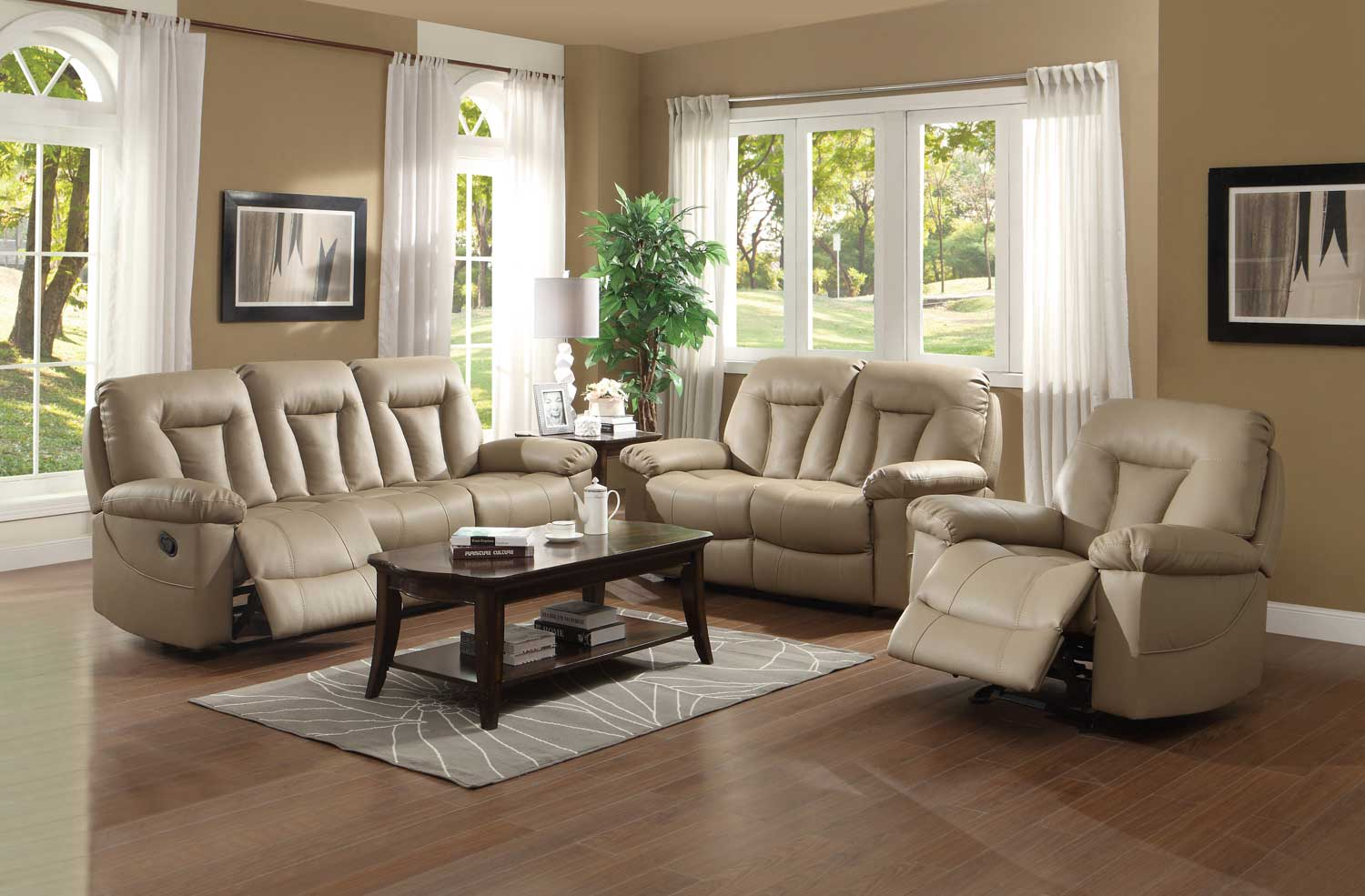 homelegance cade reclining sofa set