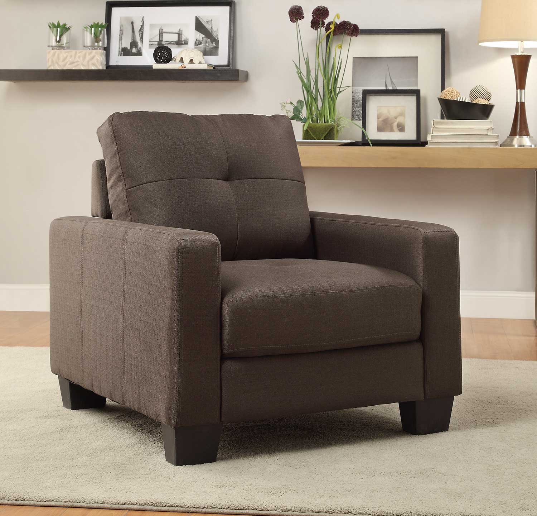 Homelegance Ramsey Chair - Grey