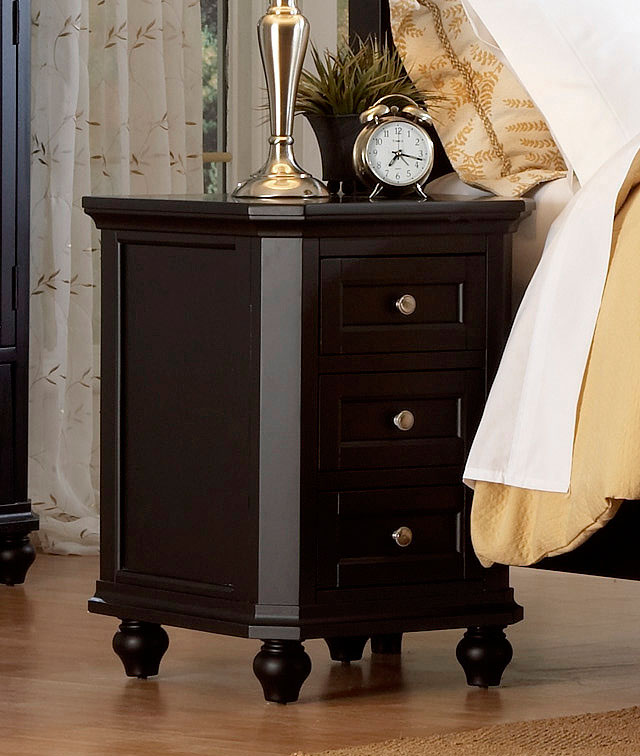 Homelegance Hanna Night Stand in Black