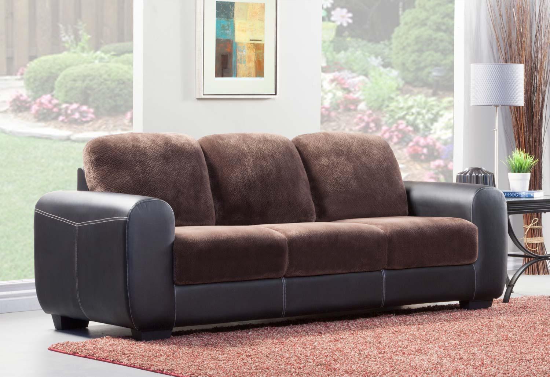 sectional sofa in brown microfiber bi cast