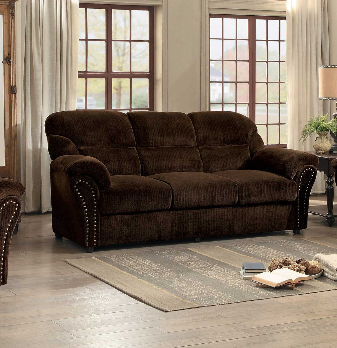 Homelegance Valentina Sofa Dark Brown