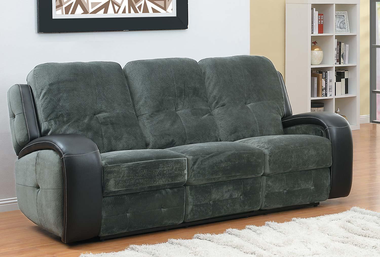 Homelegance Flatbush Double Recliner Sofa Textured Plush