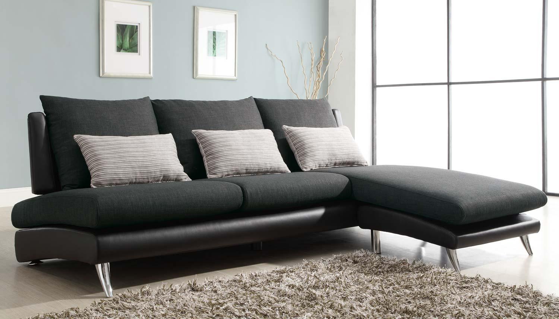 Homelegance Codman Reversible Sectional Sofa Chaise Dark