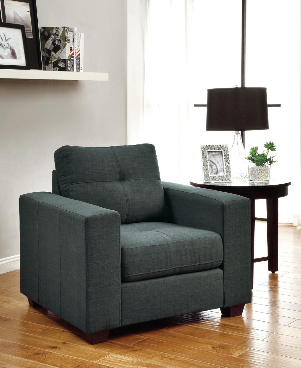 Homelegance Ashmont Chair - Polyester - Dark Grey