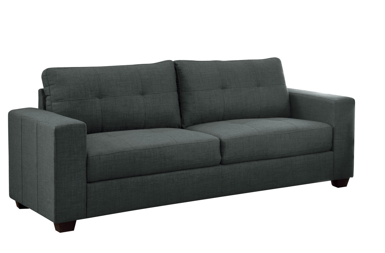 Homelegance Ashmont Sofa - Polyester - Dark Grey