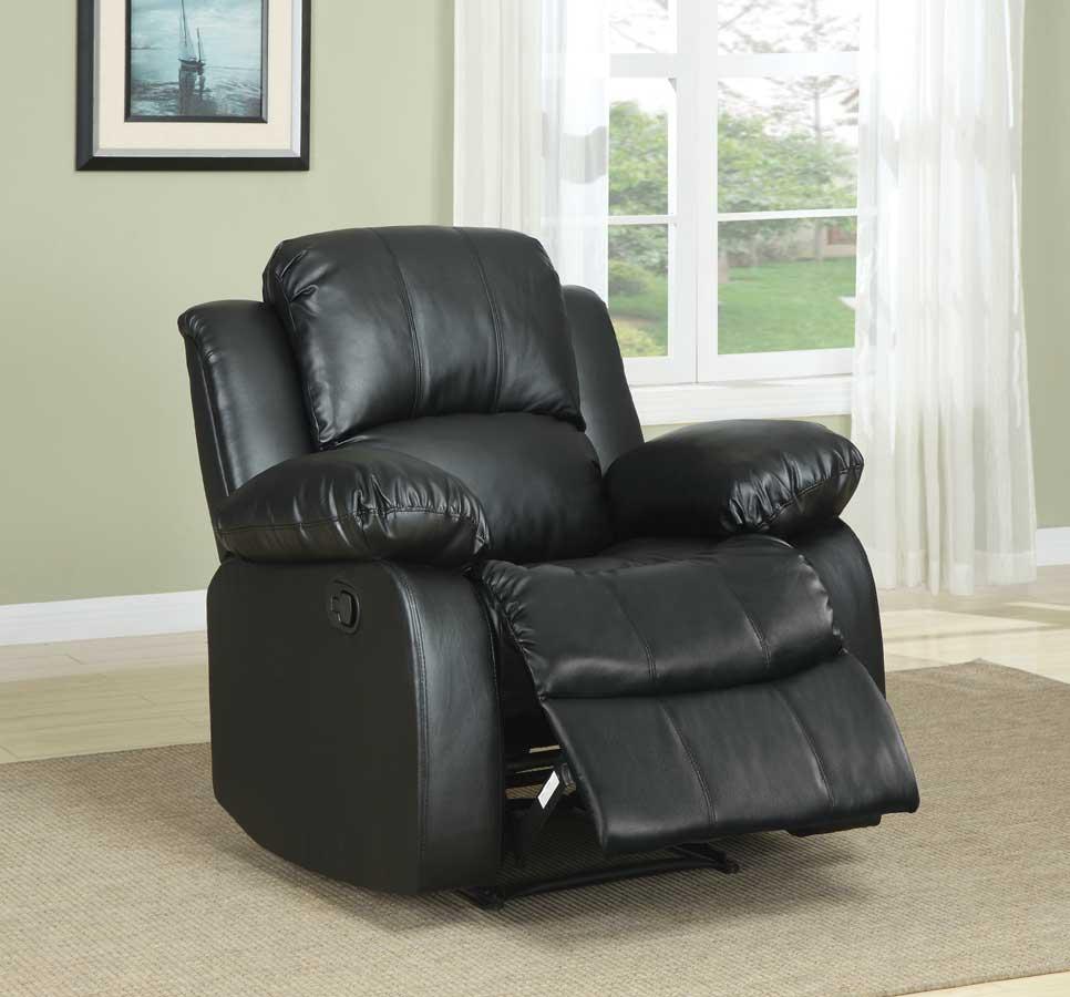 Homelegance Cranley Reclining Chair - Black Bonded Leather