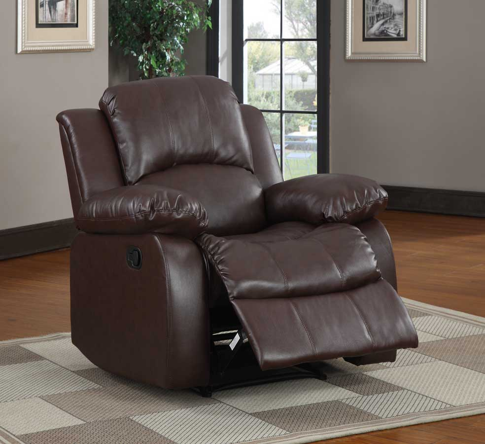 Homelegance Cranley Reclining Chair - Brown Bonded Leather