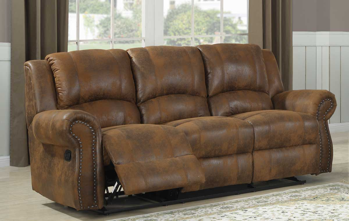 Charmant Homelegance Quinn Double Reclining Sofa   Bomber Jacket Microfiber