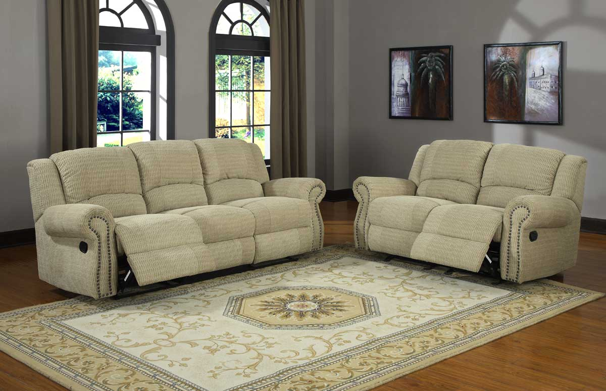 Chenille Reclining Sofa And Loveseat
