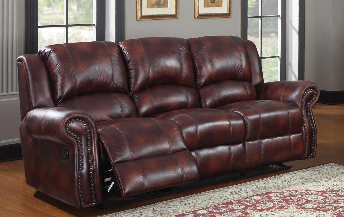 homelegance quinn double reclining sofa