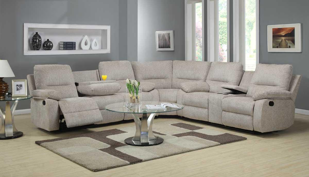 Homelegance Marianna Modular Reclining Sectional Sofa Set Beige