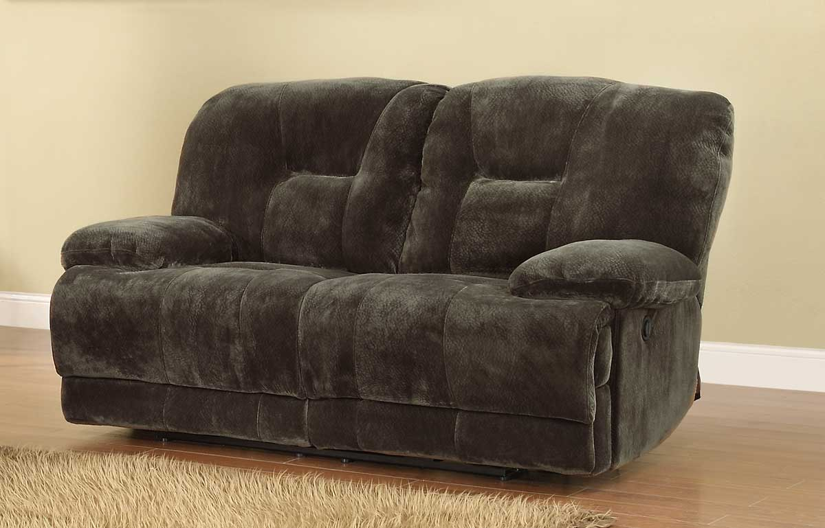 Geoffrey Power Double Reclining Love Seat - Homelegance