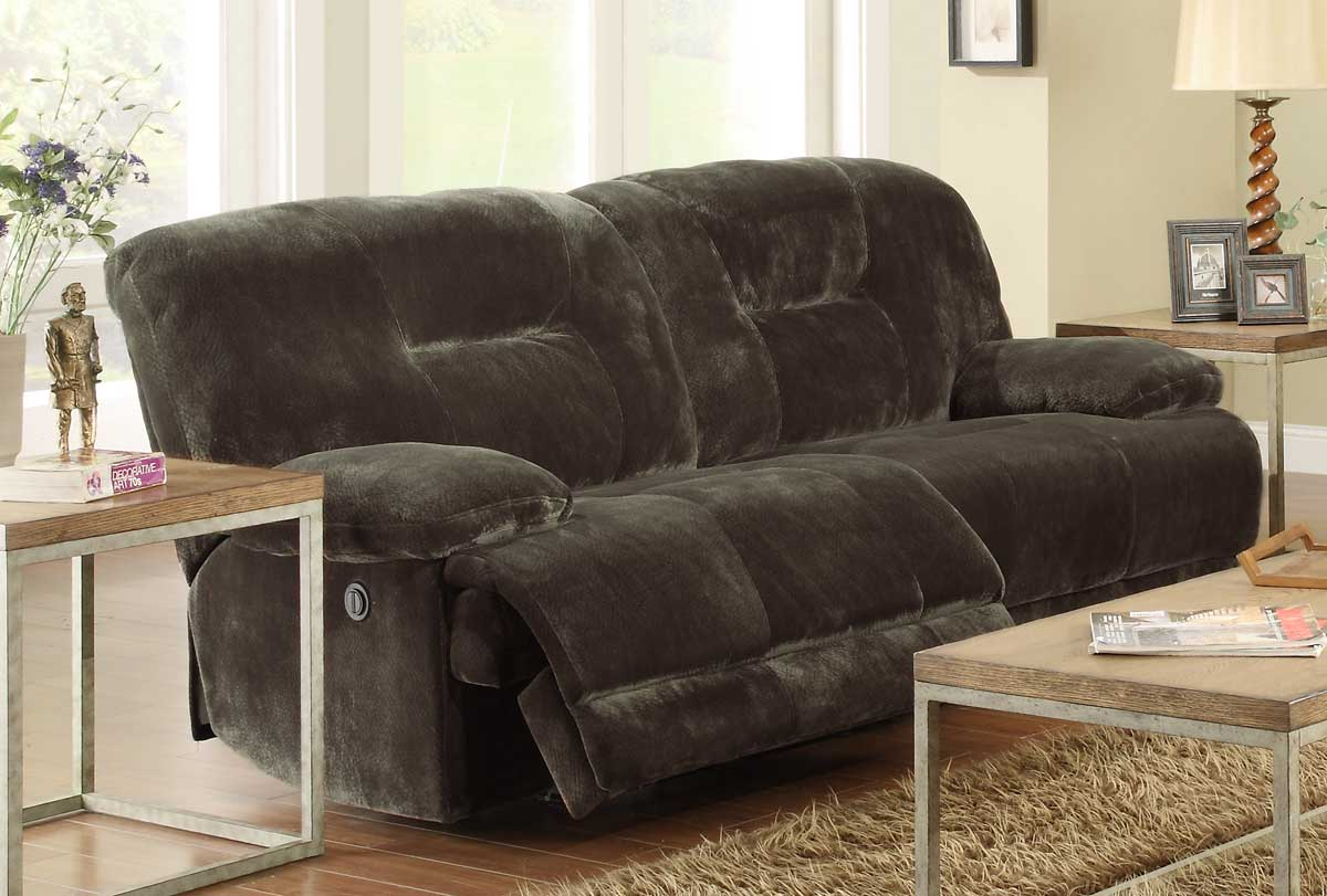Homelegance Geoffrey Power Double Reclining Sofa 97233PW at