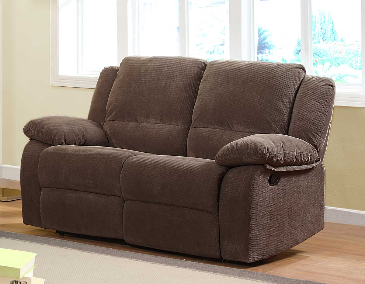 Homelegance Lucienne Double Reclining Love Seat 9725 2 At