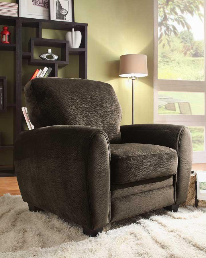 Homelegance Rubin Chair - Chocolate Textured Microfiber