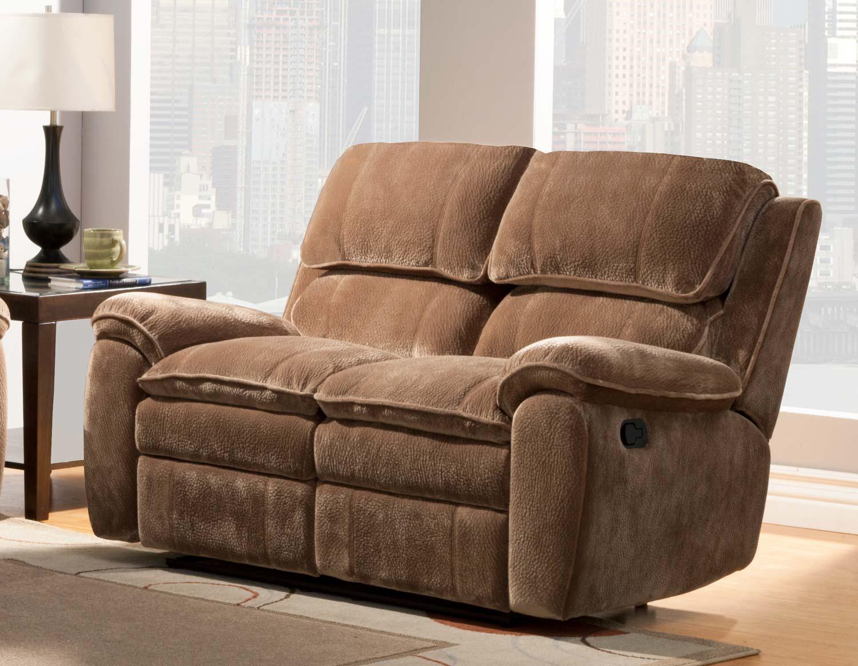 Homelegance Reilly Reclining Sofa Set Brown Textured