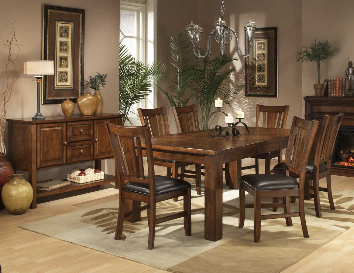 Homelegance Fusion Dining Collection-Dark Oak