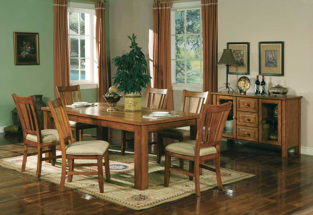 Homelegance Fusion Dining Collection-Light Oak