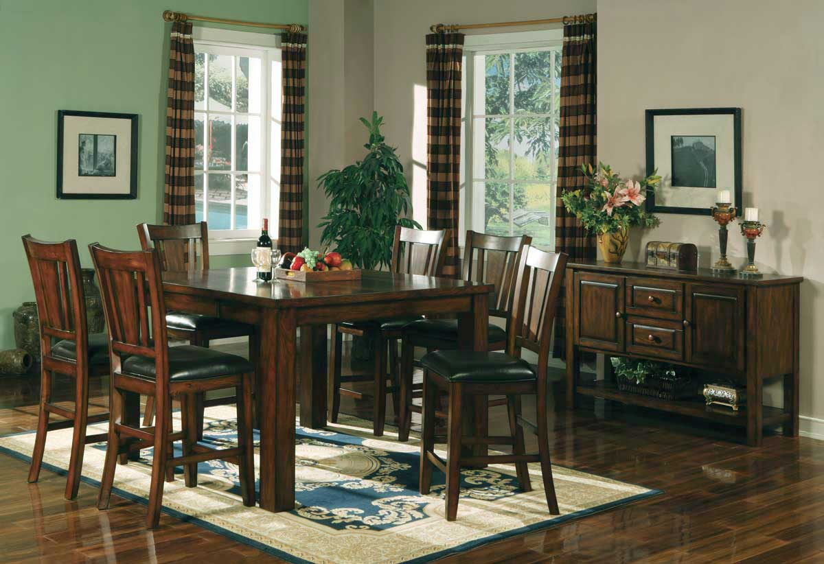 Homelegance Fusion Counter Height Dining Collection-Dark Oak