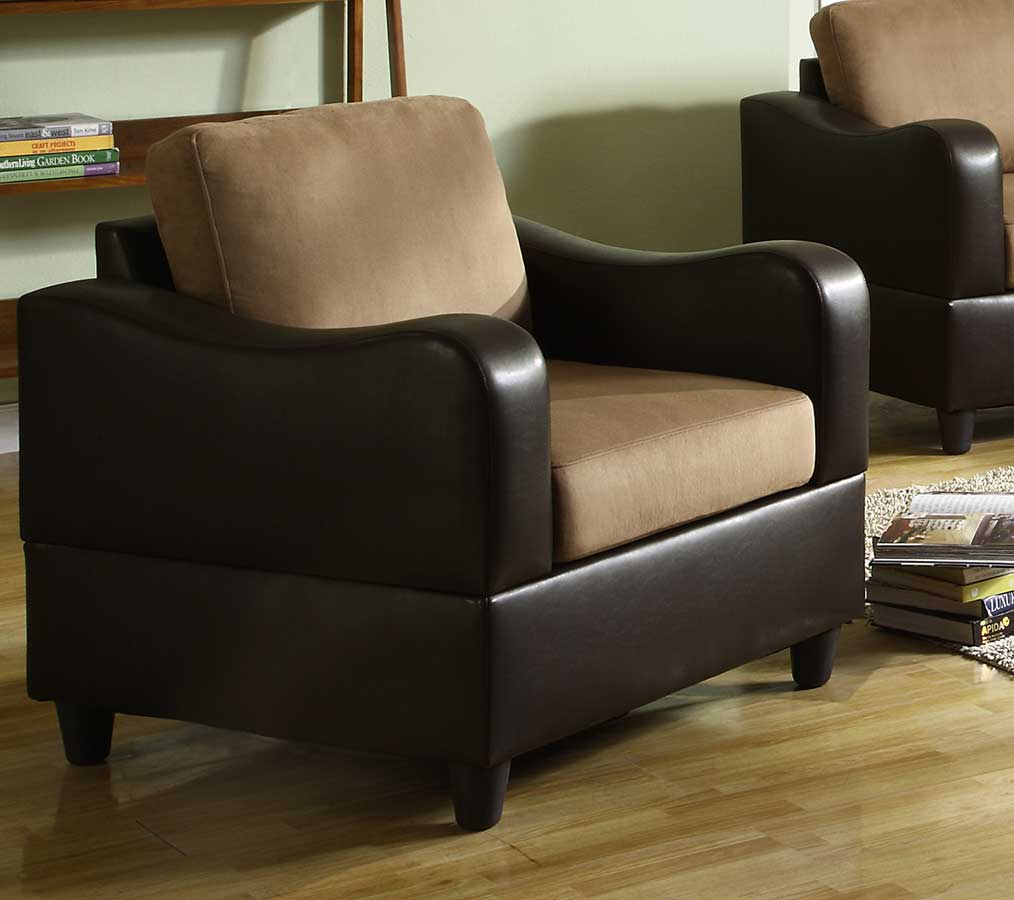Anthony Chair - Brown Microfiber and Bi-Cast - Homelegance